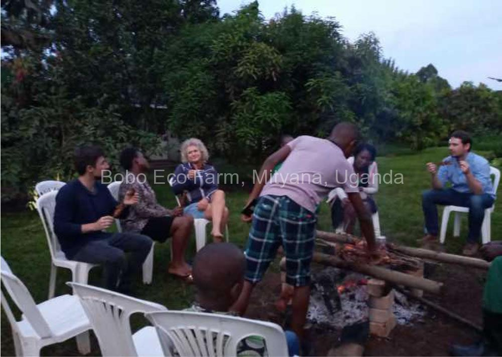 Some kind of relaxation either enjoying a jackfruit or sitting around a fire was due after a busy day2